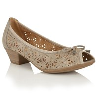 Lotus Relife Jucunda Peep Toe Courts Pewter