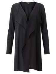 Crea Concept Knit Woven Long Cardigan Black Grey