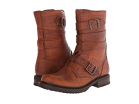 Frye Veronica Tanker Cognac Washed Oiled Vintage Cowboy Boots Brown