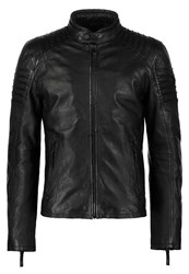 Gipsy Copper Leather Jacket Schwarz Black