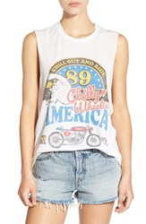 The Laundry Room Women's 'Chill And Ride' Graphic Muscle Tee