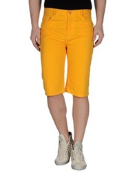 Opening Ceremony Denim Bermudas Ocher