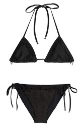 Missoni Mare Triangle Bikini With Metallic Thread Black