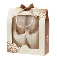 Grace Cole Warm Vanilla And Fig Relax And Revive Slipper Set