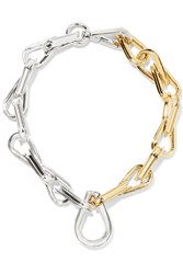 Annelise Michelson Ellipse Gold And Silver Plated Choker Gold Silver