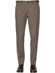 Boglioli 17.5Cm Stretch Cotton Gabardine Pants
