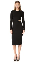 Elizabeth And James Railey Slit Waist Dress Black