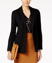 Alfani Petite Shawl Collar Open Front Blazer Only At Macy's Deep Black