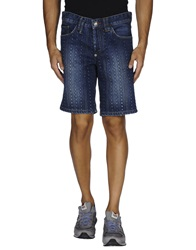 Philipp Plein Denim Bermudas Blue