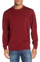 Rodd And Gunn Men's 'Gibbston Bay' Merino Wool Crewneck Sweater Ruby