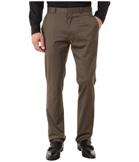 Perry Ellis Slim Fit Pants Rain Drum Men's Dress Pants Taupe