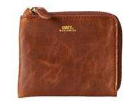 Obey Gentry Zip Wallet Caramel Wallet Handbags Brown