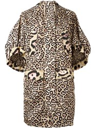 Givenchy Oversize Leopard Print Coat Nude And Neutrals
