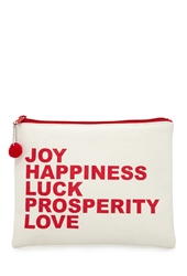 Forever 21 Joy Graphic Canvas Pouch