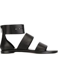 Common Projects Ankle Strap Flat Sandals Black
