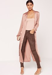 Missguided Faux Suede Skinny Trousers Brown Chocolate