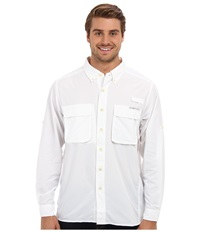 Exofficio Air Strip Long Sleeve Top White Men's Long Sleeve Button Up