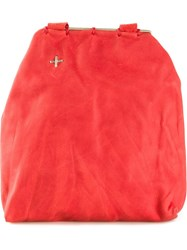 Ma Unisex 'Pouch L' Cross Body Bag Red