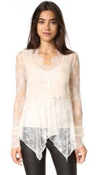 Haute Hippie Lace Blouse Antique