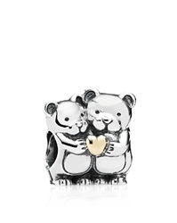 Pandora Design Pandora Charm Sterling Silver And 14K Gold Bear Hug Moments Collection Silver Gold