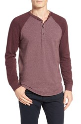 Tailor Vintage Men's Baseball Henley Cherry Truffle