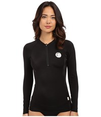 O'neill Front Zip Long Sleeve Crew Black Black Black Women's Swimwear