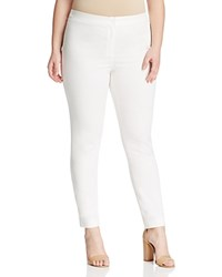 Marina Rinaldi Rock Stretch Cotton Ankle Pants White