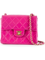 Chanel Vintage Quilted Crossbody Bag Pink And Purple