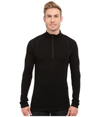 Smartwool Nts Mid 250 Zip T Top Black Men's Long Sleeve Pullover