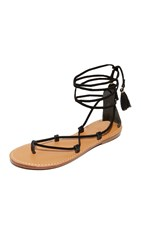 Soludos Gladiator Lace Up Sandals Black