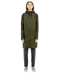 Rains Long Jacket In Green