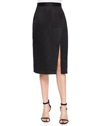 Nanette Lepore Linen Blend Pencil Skirt With Slit