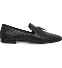 Giuseppe Zanotti Crocodile Effect Leather Shoes Black