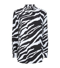Equipment Reese Zebra Print Silk Shirt Female Multi