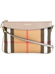 Burberry House Check Crossbody Bag Nude And Neutrals