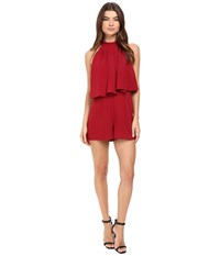 Lovers Friends Nicki Romper Cranberry Women's Jumpsuit And Rompers One Piece Red