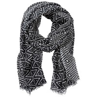 Betty Barclay Long Abstract Print Scarf Black Cream