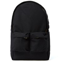 Off White Canvas Backpack Black