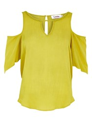 Louche Ulrika Cold Shoulder Top Mustard