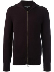 John Varvatos Zipped Hoodie Red