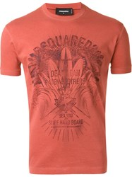Dsquared2 Logo T Shirt Yellow And Orange