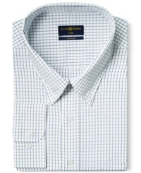Club Room Big And Tall Wrinkle Resistant White Blue Tattersall Dress Shirt Only At Macy's