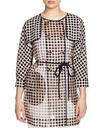 Finity Sheer Polka Dot Trench Coat Print