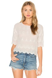 Hoss Intropia Short Sleeve Blouse White