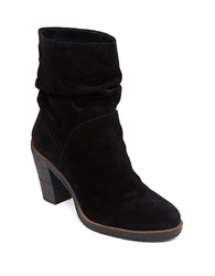 Vince Camuto Parka Suede Slouch Ankle Boots Black