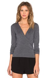The Kooples Wrap Cardigan Gray