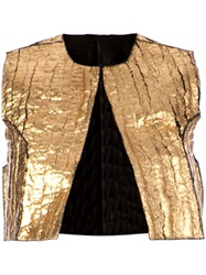 Simona Tagliaferri Distressed Bolero Jacket
