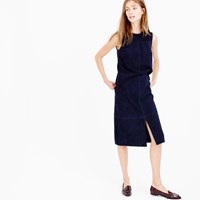 J.Crew Collection A Line Midi Skirt In Suede