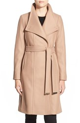 Women's Ted Baker London 'Lorili' Funnel Neck Wool Blend Wrap Coat Taupe