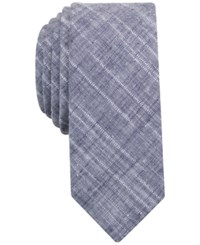 Penguin Men's Lynne Plaid Skinny Tie Dark Navy